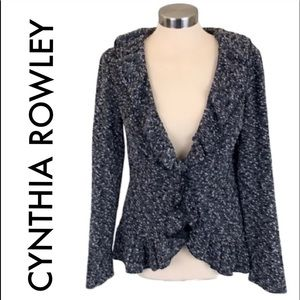 👑 CYNTHIA ROWLEY KNIT JACKET 💯AUTHENTIC